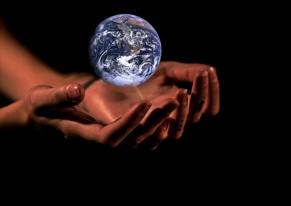 hands, globe, earth